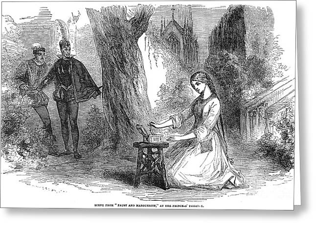 Faust And Marguerite, 1854 Greeting Card by Granger