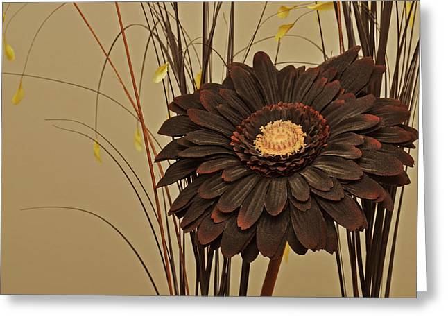 Faux Flora Greeting Card by Terence Davis