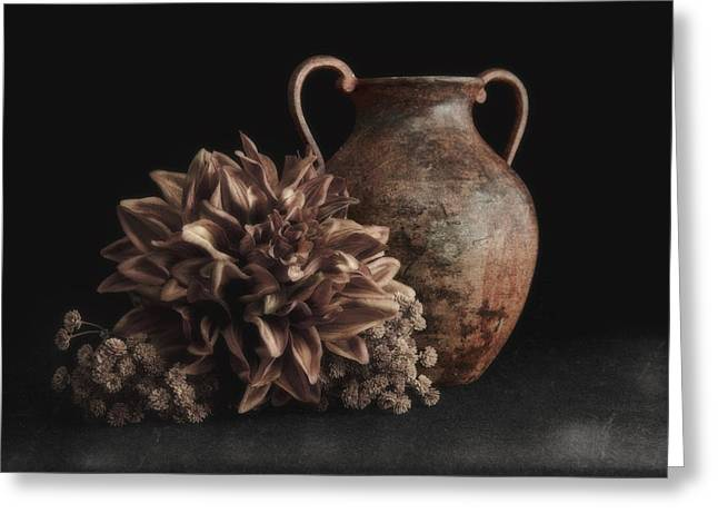 Faux Flower Still Life Greeting Card