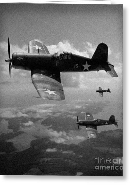 Greeting Card featuring the photograph Faux Wwii Corsair Photo by Stephen Roberson