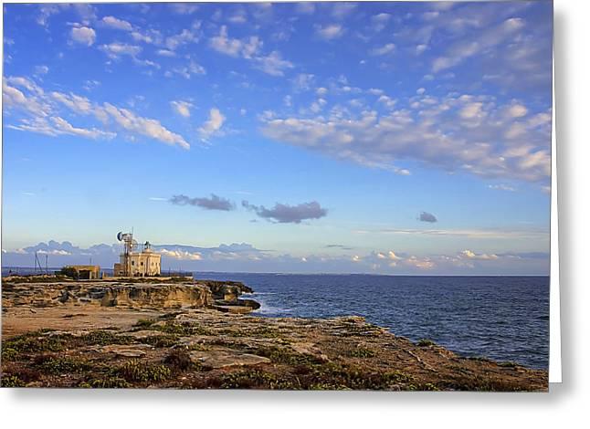 Favignana - Lighthouse Greeting Card by Alfio Finocchiaro