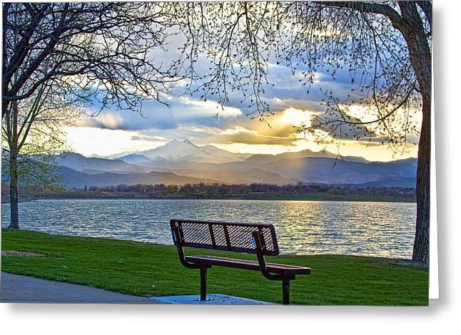 Favorite Bench And Lake View Greeting Card by James BO  Insogna