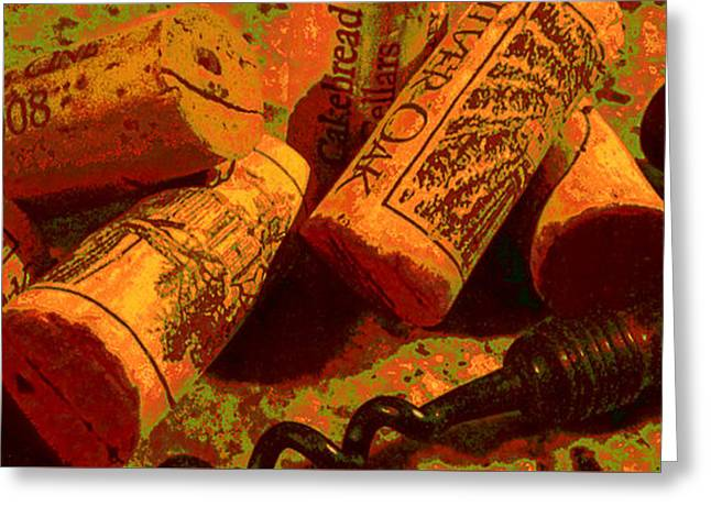 Favorite Corks Greeting Card by Doug Edmunds