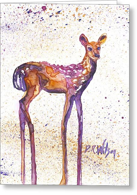 Fawn Rising Greeting Card by D Renee Wilson