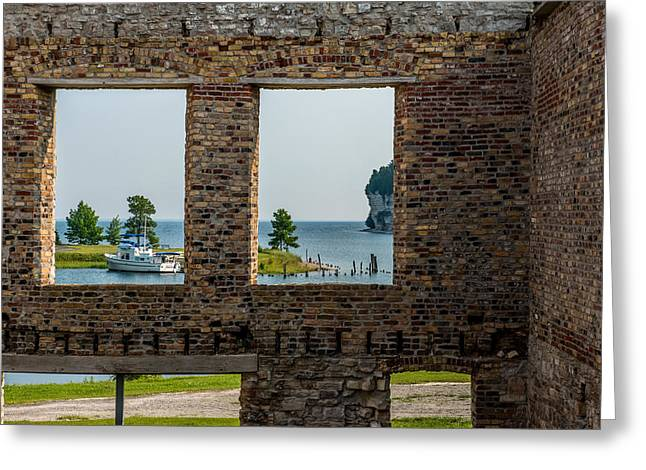 Fayette Ruins Greeting Card by Paul Freidlund