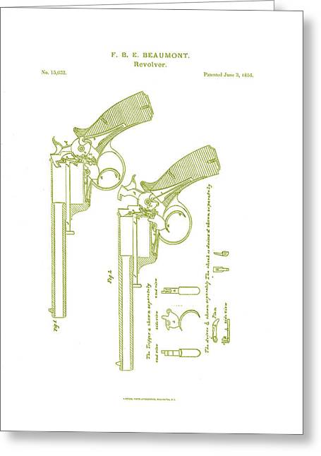 F.b.e Beaumont Revolver Patent Greeting Card