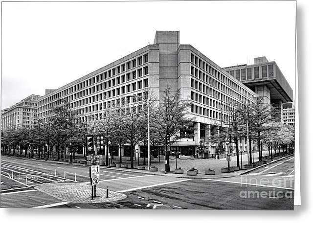 Fbi Building Front View Greeting Card
