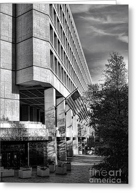 Fbi Building Modern Fortress Greeting Card