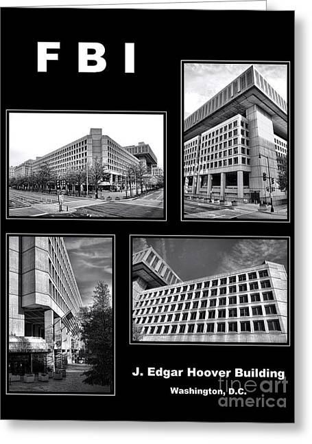 Fbi Poster Greeting Card by Olivier Le Queinec