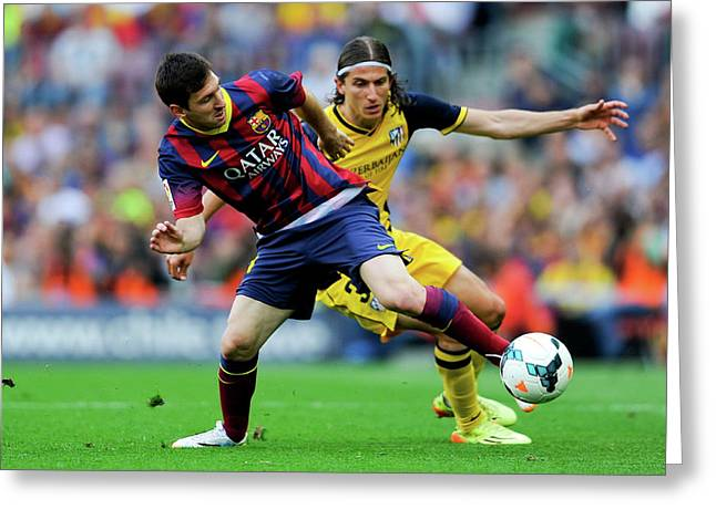 Fc Barcelona V Club Atletico De Madrid Greeting Card