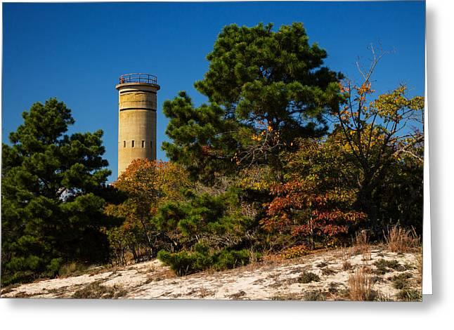 Fct8 Fire Control Tower 8 Autumn Sentry Greeting Card by Bill Swartwout