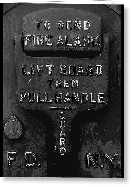 Fdny - Alarm Greeting Card by James Aiken