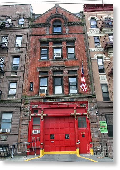 Fdny Engine 74 Firehouse Greeting Card by Steven Spak