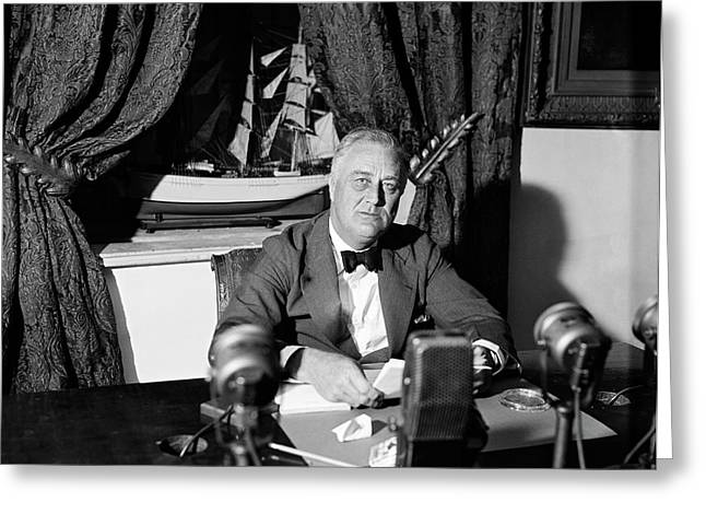Fdr Fireside Chat Greeting Card
