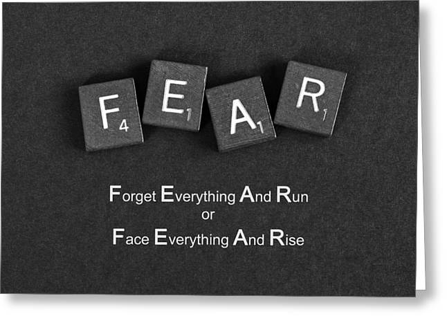 Fear Inspirational Quote Greeting Card