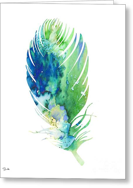 Feather 2 Greeting Card by Luke and Slavi