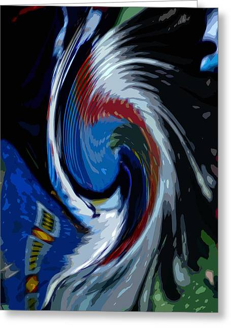 Feather Whirl Greeting Card by Randy Pollard