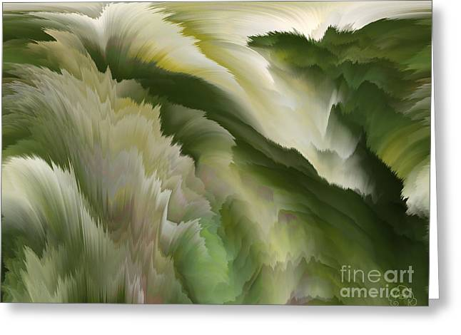 Feathered Hills And Valleys Greeting Card by Patricia Kay