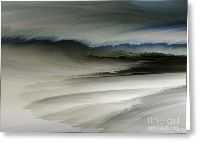 Feathered Seascape Greeting Card by Patricia Kay