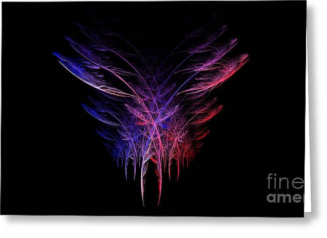 Feathers In Motion Greeting Card by Amanda Collins