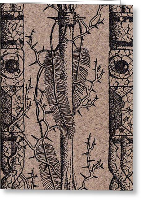 Feathers Thorns And Broken Arrow Bookmark No3 Greeting Card