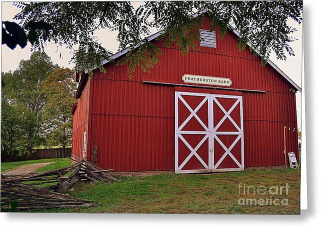 Featherstone Red Barn Greeting Card