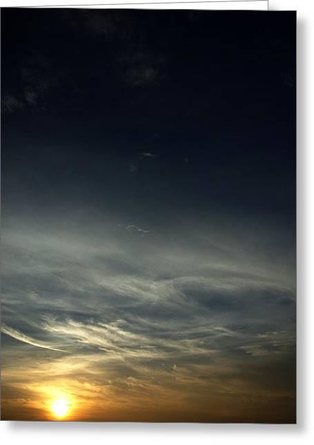Feathery Clouds Greeting Card by Rajiv Chopra
