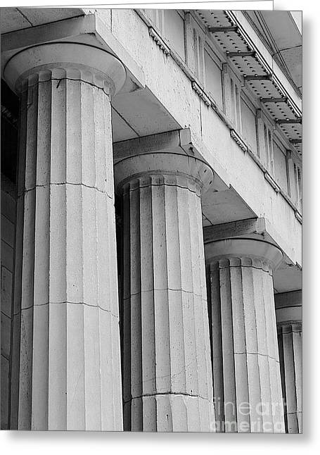 Federal Hall Columns Greeting Card by Jerry Fornarotto