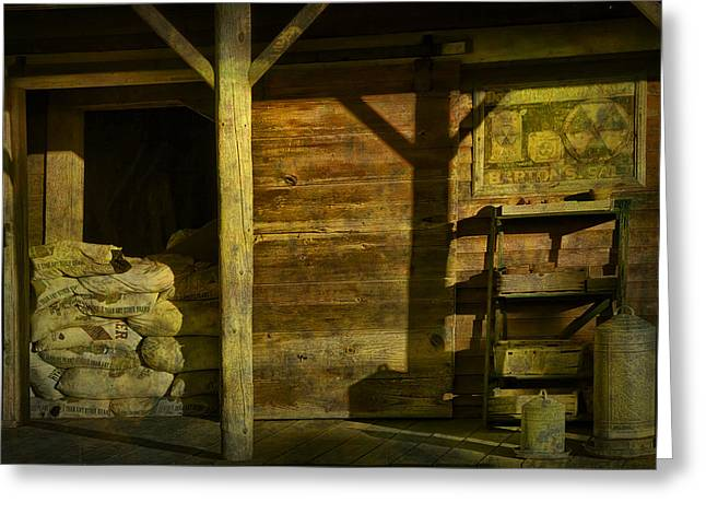 Feed Mill Store Greeting Card by Randall Nyhof