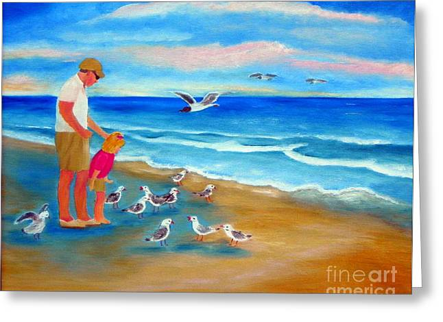 Greeting Card featuring the painting Feeding Time by Shelia Kempf