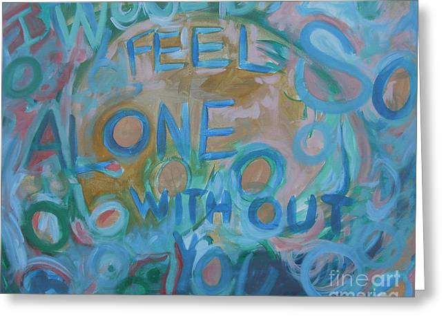 Feel One With You Greeting Card