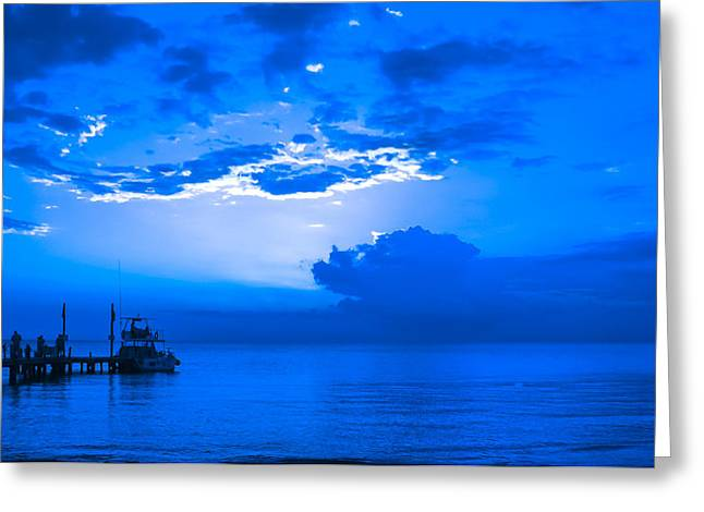 Greeting Card featuring the photograph Feeling Blue by Phil Abrams