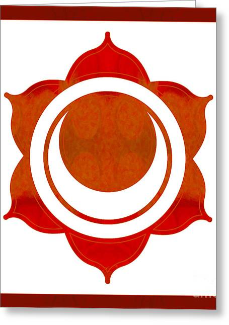 Feeling Creative Abstract Chakra Art By Omaste Witkowski  Greeting Card by Omaste Witkowski