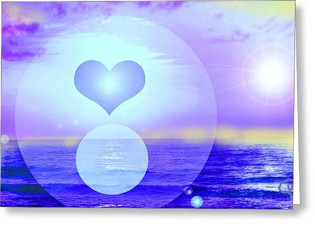 Feeling Heart Greeting Card by Ute Posegga-Rudel