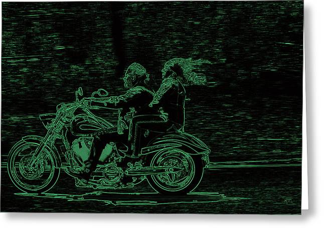 Feeling The Ride Greeting Card by Karol Livote