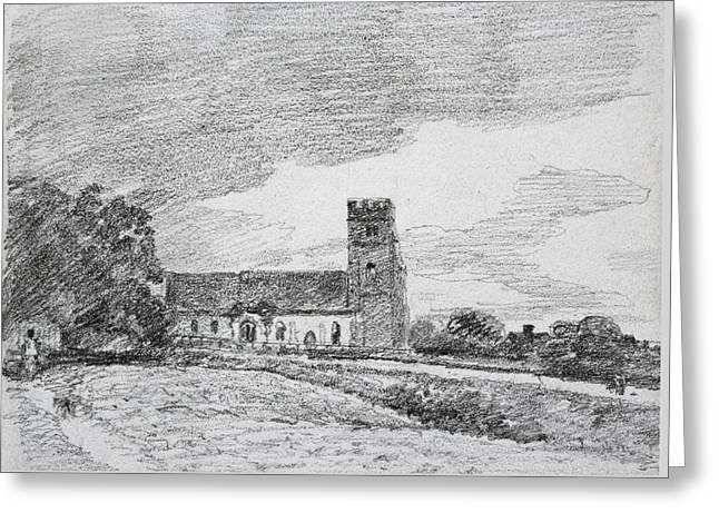 Feering Church, 1814 Greeting Card