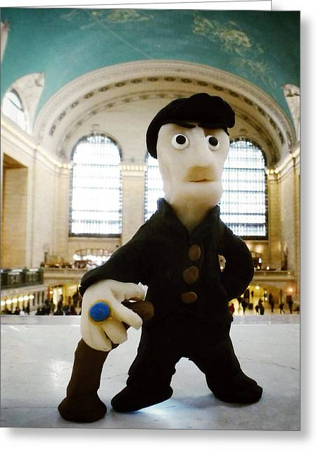Feisty Gene In Grand Central Greeting Card by Natasha Marco