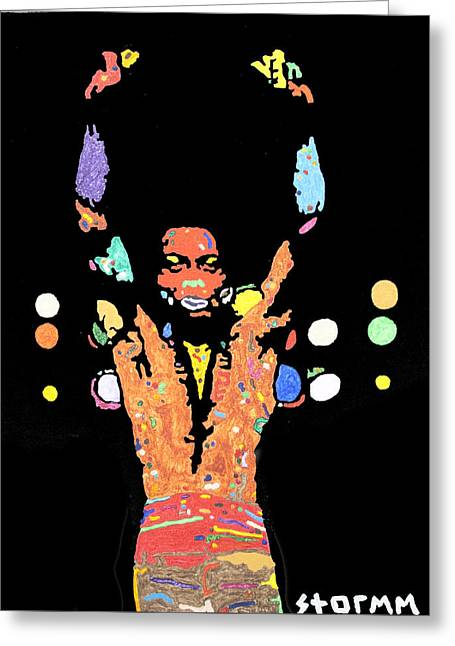 Fela Kuti Greeting Card by Stormm Bradshaw