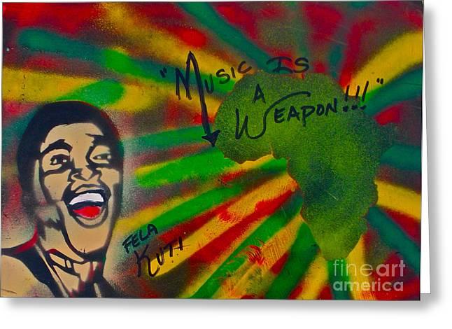 Fela Kuti Greeting Card by Tony B Conscious