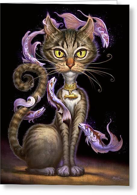 Feline Fantasy Greeting Card