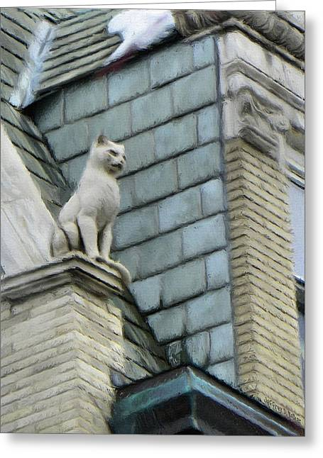 Feline Sentry Greeting Card
