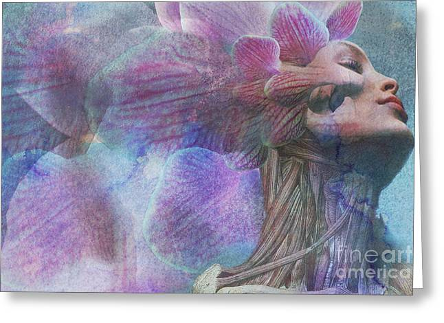Female Beauty Greeting Card by Michael Volpicelli