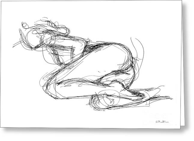 Female-erotic-sketches-8 Greeting Card