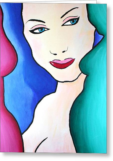 Female Face Shapes And Forms Greeting Card