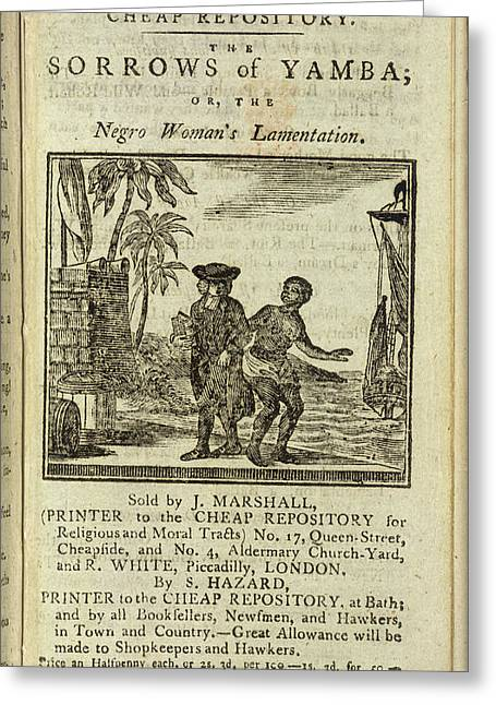 Female Slave Greeting Card by British Library