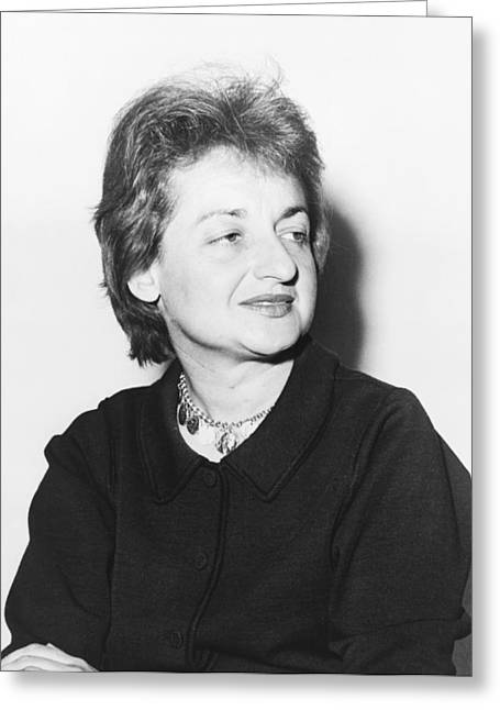Feminist Betty Friedan Greeting Card by Fred Palumbo