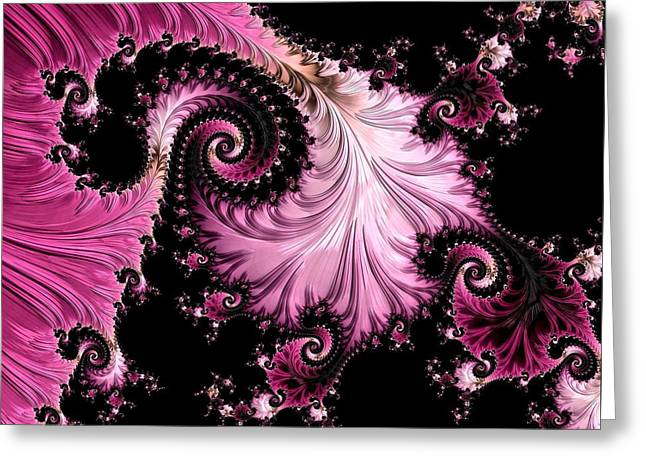 Femme Fatale Fractal Greeting Card by Susan Maxwell Schmidt