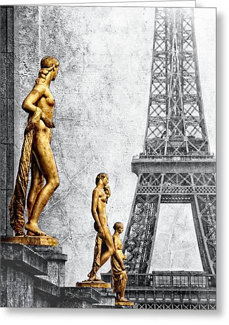 femmes parisiennes III Greeting Card by Joachim G Pinkawa