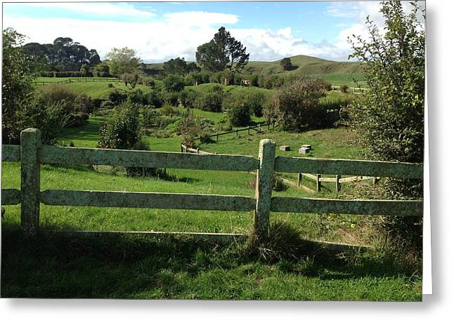 Fence And Beyond Greeting Card by Ron Torborg