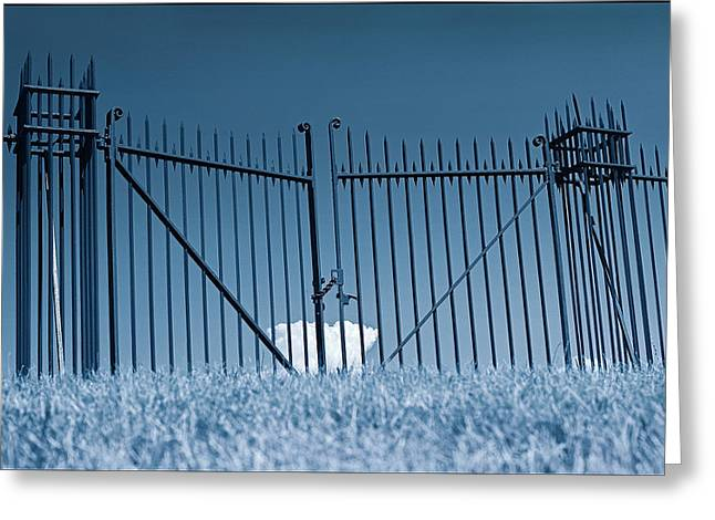 Fence And Cloud Greeting Card
